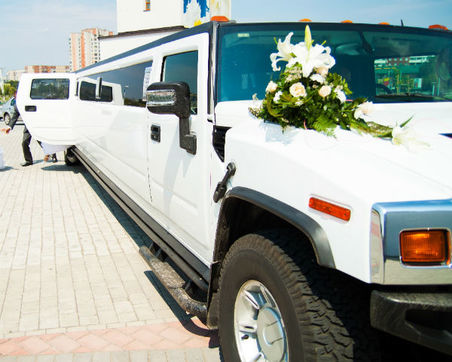 White Wedding Hummer