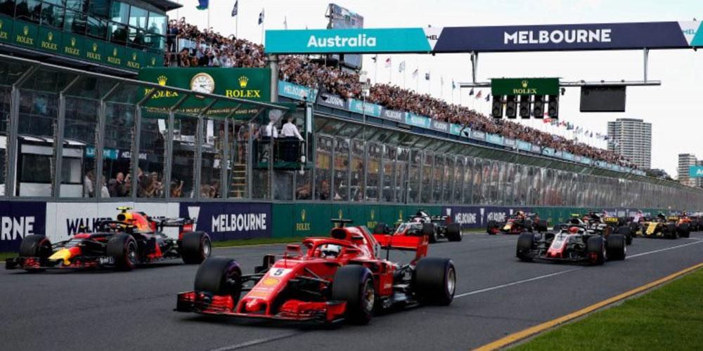The lineup at the Melbourne Grand Prix
