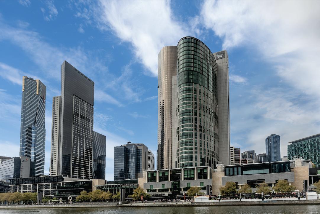 The crown casino complex in Melbourne Australia.